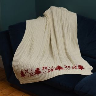 Winter Warmer Aran Blanket