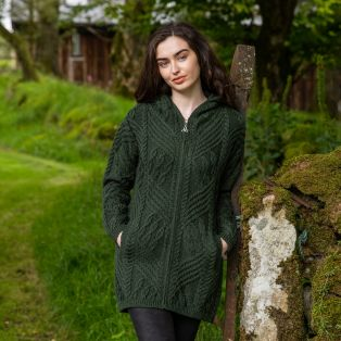 Women's Inishmore Aran Zipper Coat