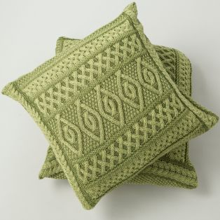 Celtic Two Tone Aran Cushion Cover