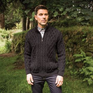 Men's Soft Merino Wool Zip Cardigan