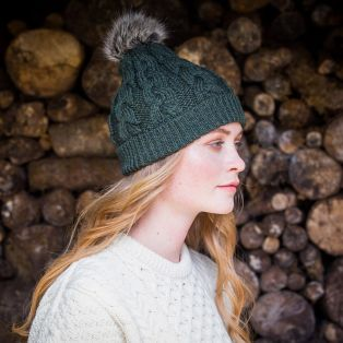 Ladies Aran Bobble Hat