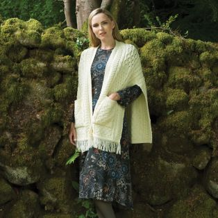 Merino Wool Pocket Shawl