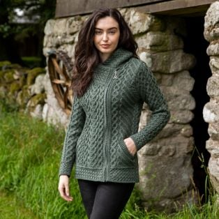 Women's Kilkenny Tundra Aran Hooded Cardigan