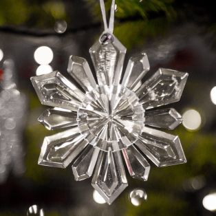 Galway Crystal Snowflake Christmas Hanging Ornament