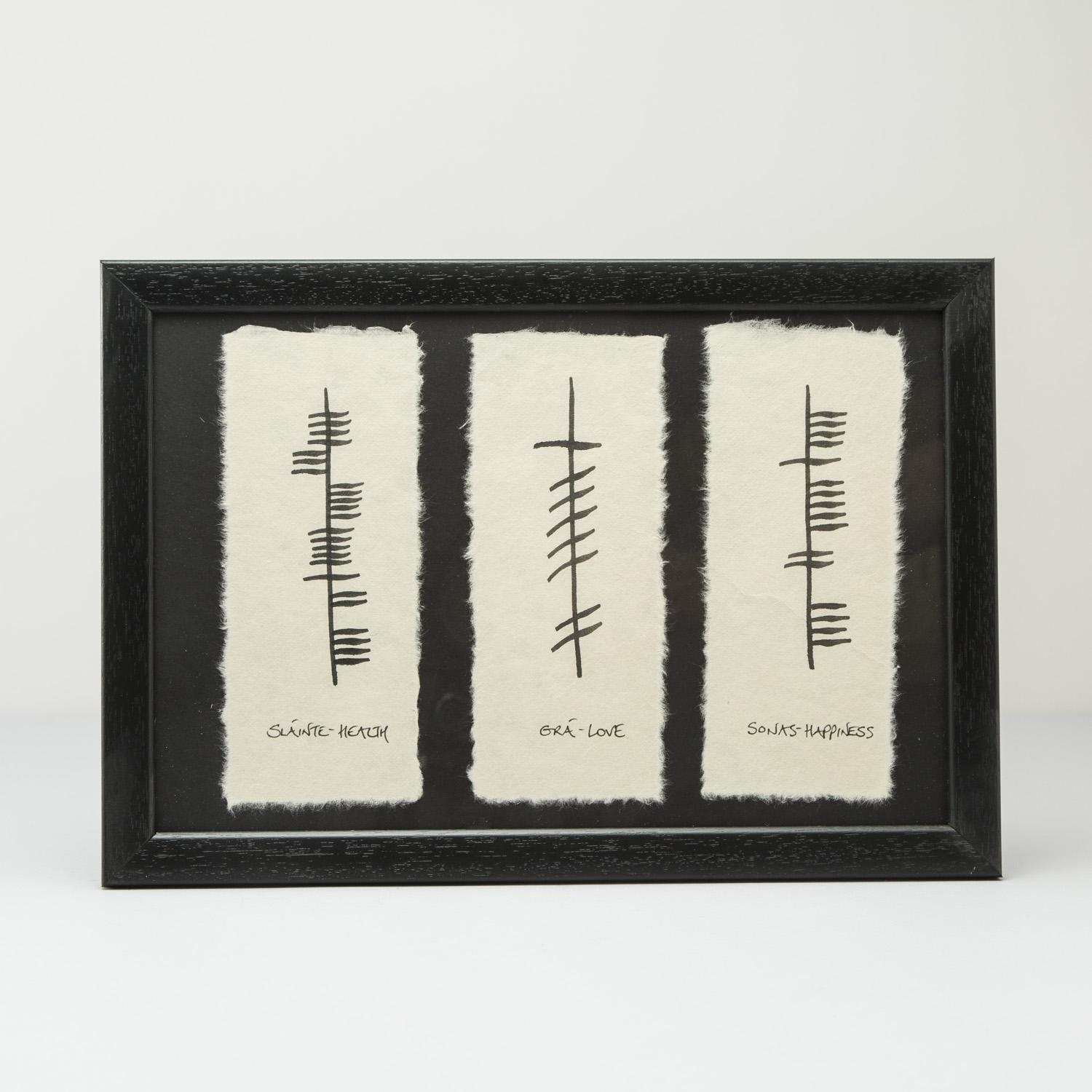 Ogham love health and happiness