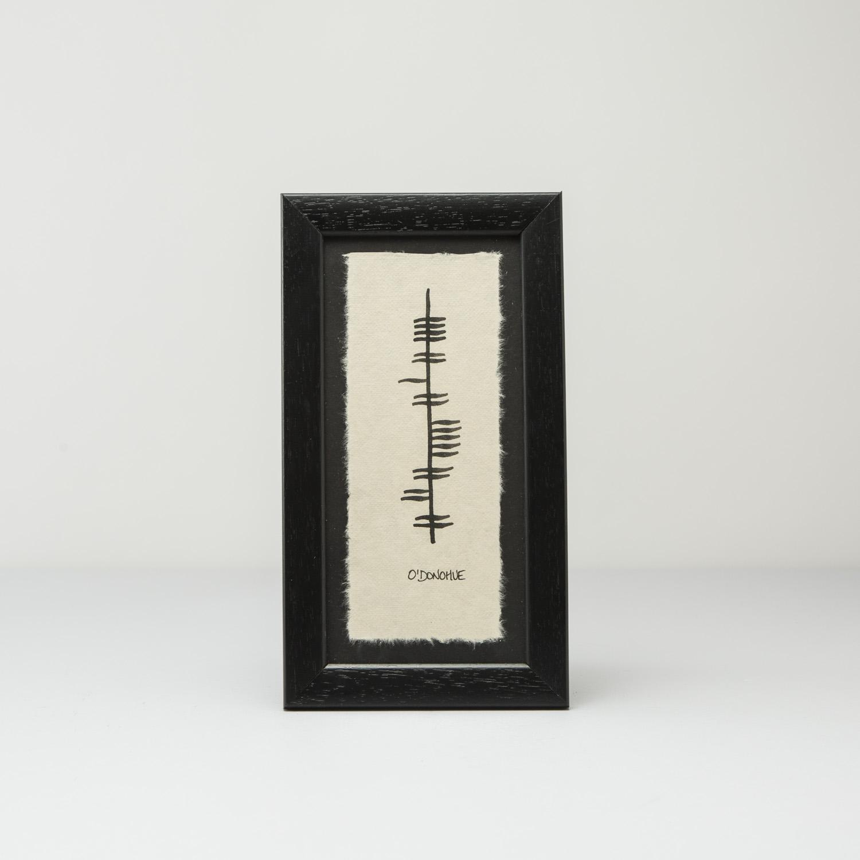 Ogham name plaque