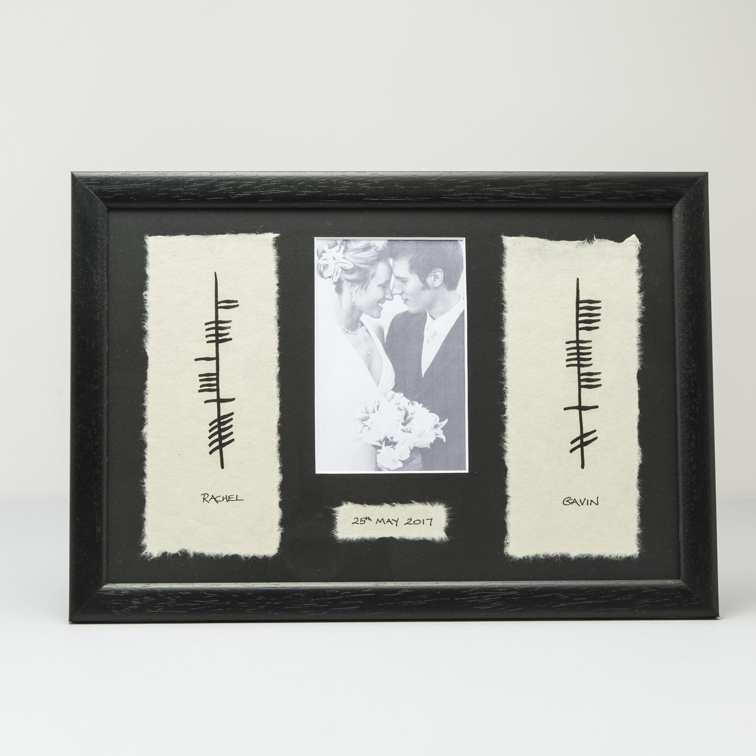 Ogham wedding print