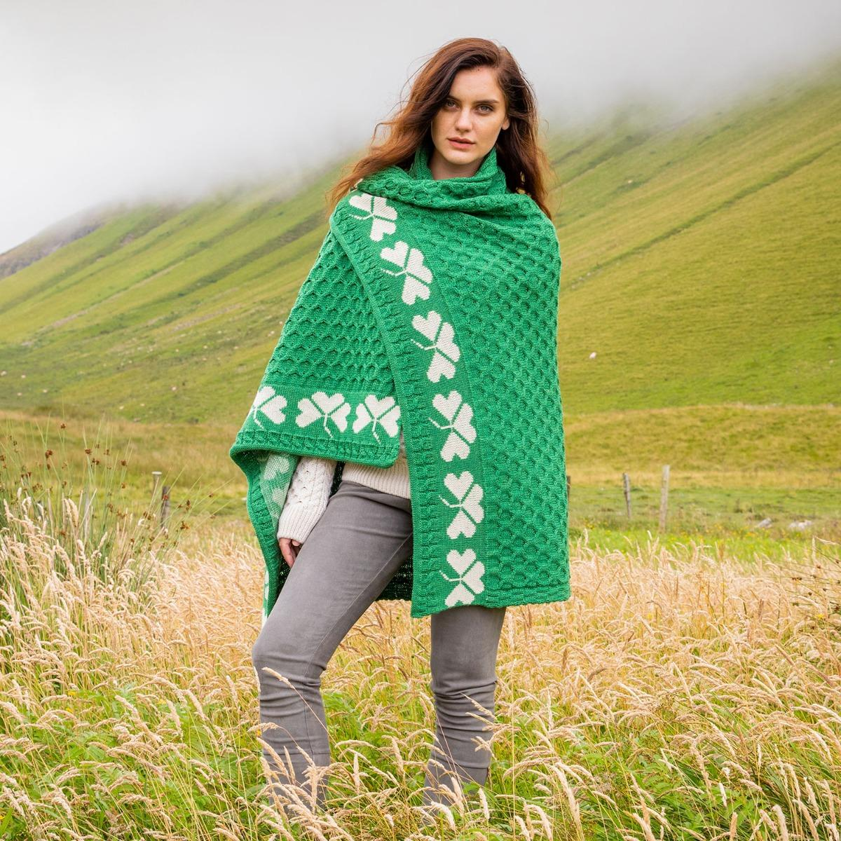 Shamrock blanket Irish homeware