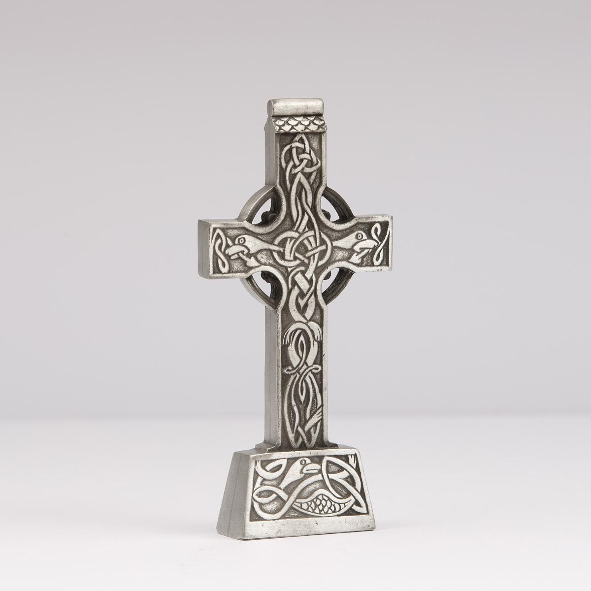 Mullingar Pewter Celtic Cross Ornament Irish homeware