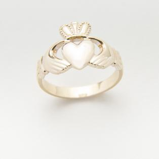14 carat Gold Gents Claddagh Ring