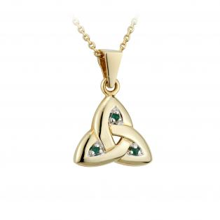 14k Gold Trinity Knot Pendant