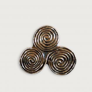 Newgrange Triple Spiral Bronze Paperweight