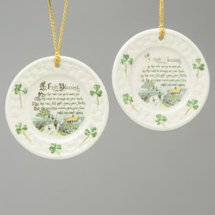 Belleek Irish Blessing Ornament 2906 *Set of 2*