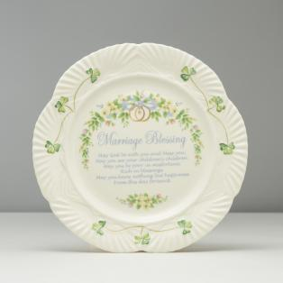 Belleek Irish Pottery Marriage Blessing Plate