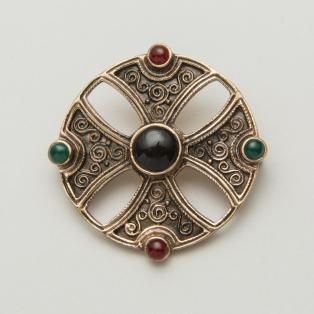 Celtic Bronze Shield Brooch