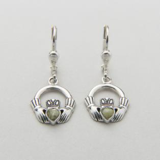 Claddagh Marble Drop Earrings