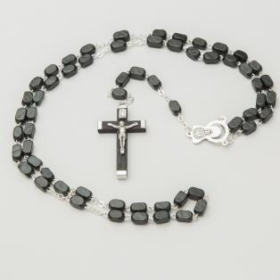 Connemara Marble Black Wooden Rosary