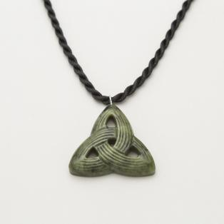 Connemara Marble Carved Trinity Knot Pendant