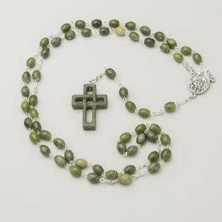 Connemara Marble Rosary Beads with Knock Medal