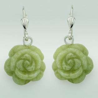 Connemara Marble Rose Drop Earrings