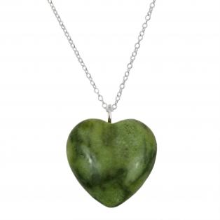Connemara Marble Sterling Silver Heart Pendant