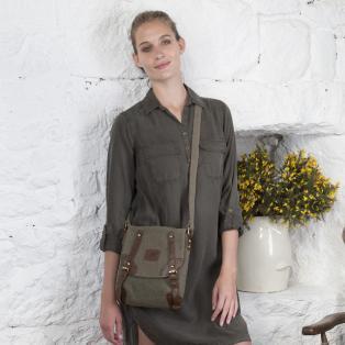 Double Buckle Irish Cotton Bag