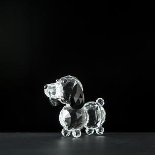 Galway Crystal Dachshund Dog Figurine