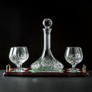 Galway Crystal Longford Miniature Brandy Decanter Set