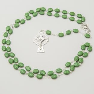 Handmade Irish Shamrock Rosary Beads