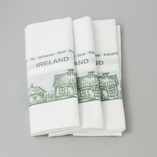 Home is Where the Heart is Linen Tea Towel set of 3