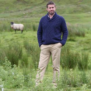 Irish Celtic Unisex Shawl Collar Sweater