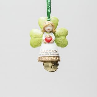 Irish Claddagh Angel Decoration With Bell