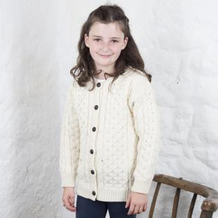 Kids Crew Aran Button Cardigan