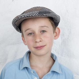 Kids Traditional Tweed Celtic Knot Patchwork Cap