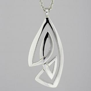 Large Sterling Silver Celtic Knot Pendant
