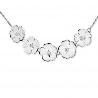 Newbridge Waterlily Clear Stone Necklace