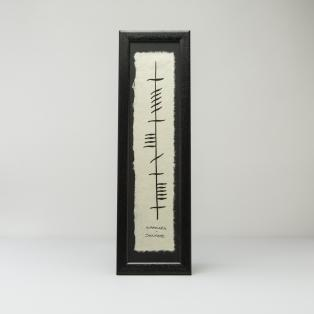"Ogham Irish Writing ""Anam Cara"" (Soul Mate)"