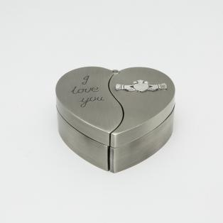 Personalised Claddagh Heart Jewellery Box