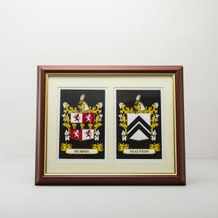 Personalized Framed Double Heraldic Print