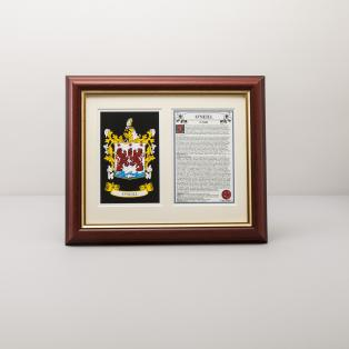 Personalized Framed Family Crest