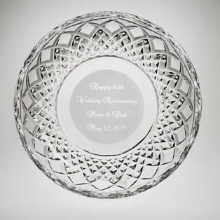 "Personalized Galway Crystal 8"" Plate"