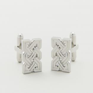 Rhodium Celtic Knot Cufflinks