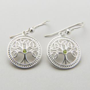 Silver Celtic Tree of Life Earrings