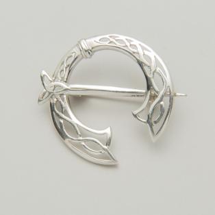 Silver Trinity Knot Celtic Warrior Brooch