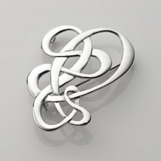 Sterling Silver Open Celtic Knot Brooch
