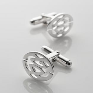 Sterling Silver Round Celtic Knot Cufflinks