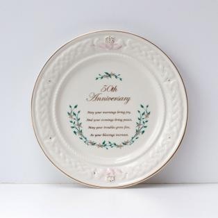 Belleek 50th Anniversary Plate