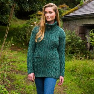The Kerrykeel Aran Zip Cardigan