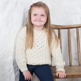 Childrens Aran Lumbar Sweater