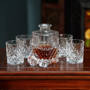 Galway Crystal Renmore Decanter & Glasses Set